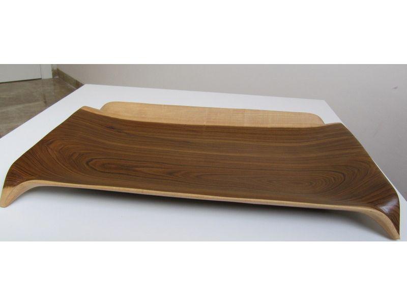 Bandeja rectangular de madera for Bandejas de madera